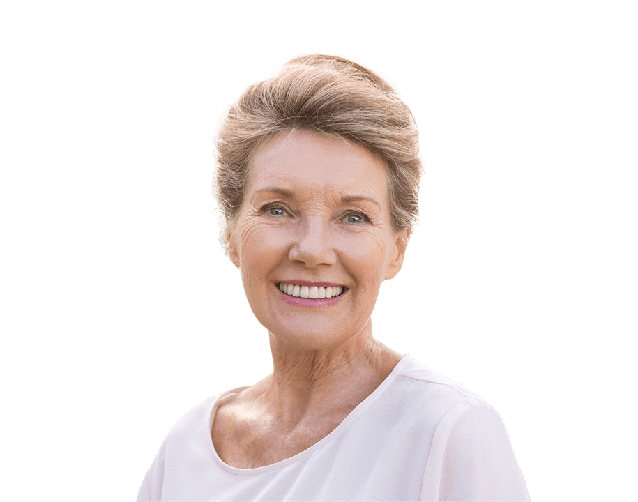 Smiling senior woman with healthy smile